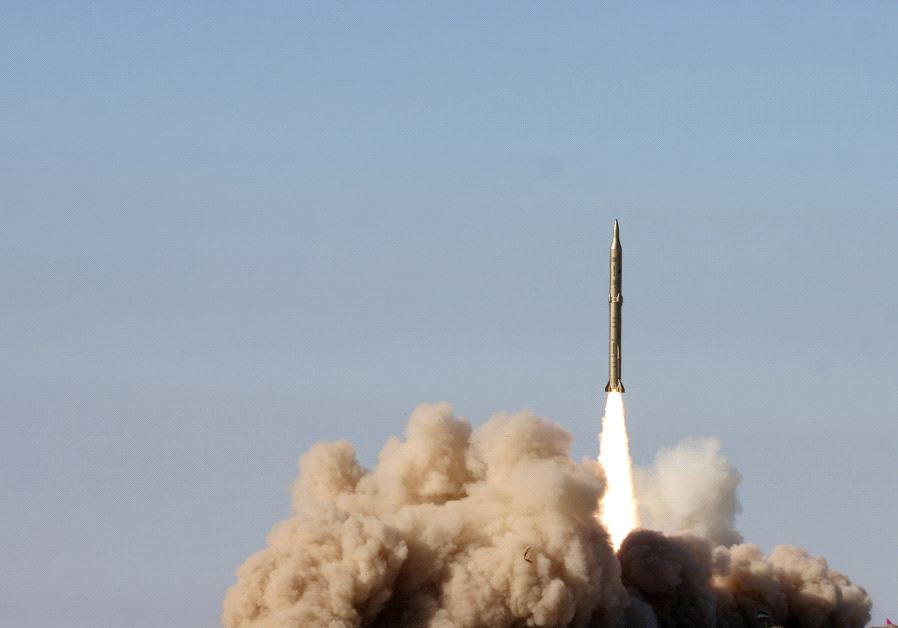 Rocket launch in Iran (photo credit: FARS)