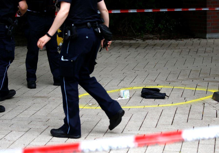 Hamburg supermarket crime scene, July 2017