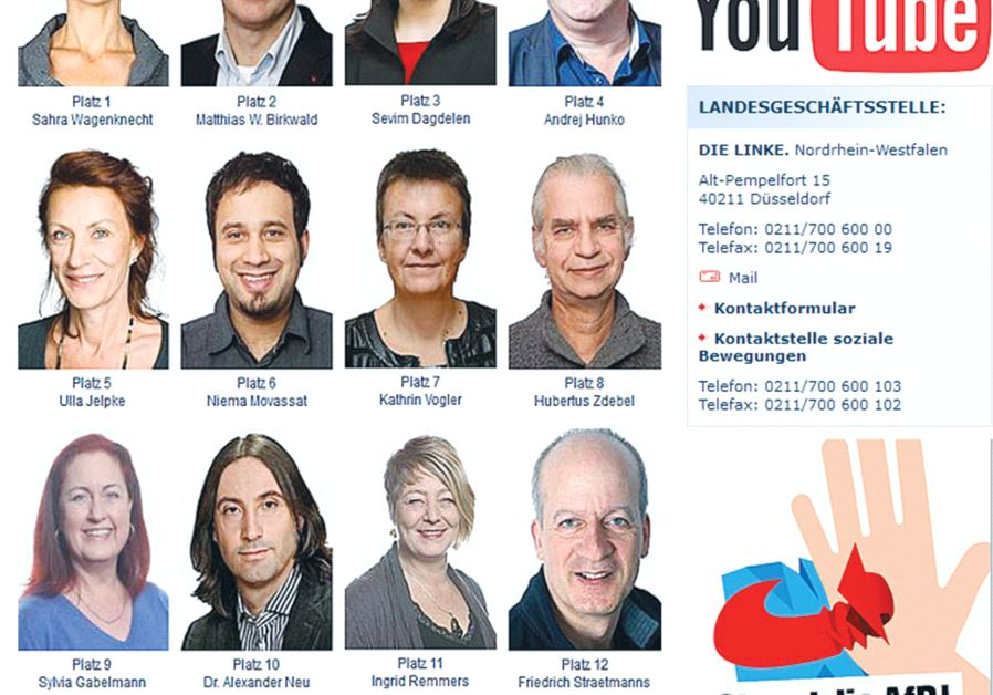 MEMBERS OF Germany's Left Party in North Rhine-Westphalia who were candidates for the Bundestag appe