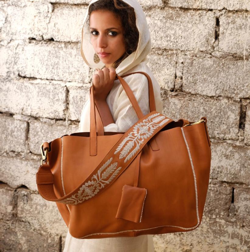 The Nopo- Hamimi handmade leather bag (photo credit: Hamimi Living)
