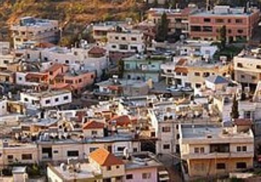 A Druse village in the Golan Heights.