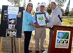 Planting Trees on the ANZAC trail In memory of Greg Sher, a Jewish-Australian Soldier