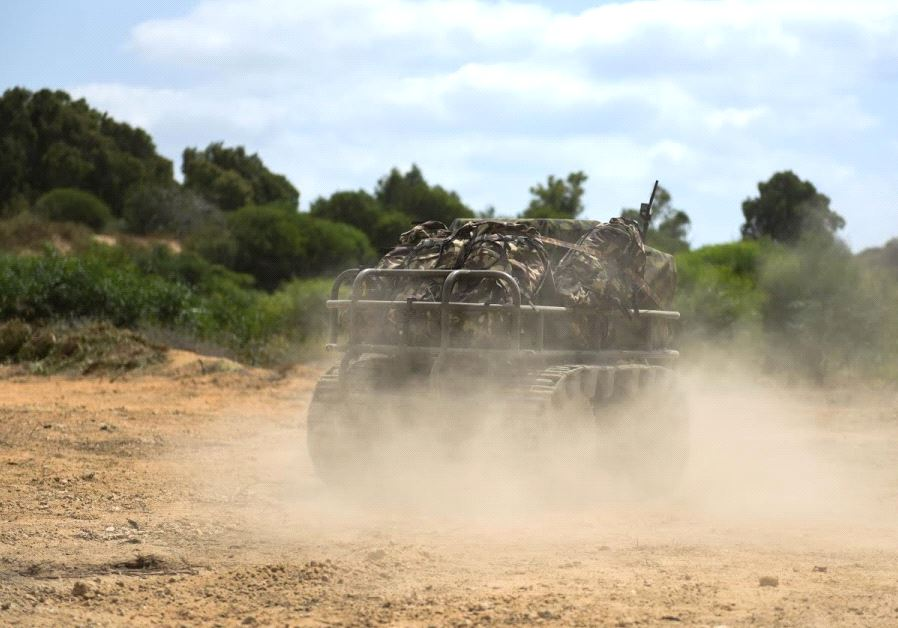 Vehicle designed to carry equipment to ease the load of combat soldiers (credit: IDF SPOKESPERSON'S UNIT)