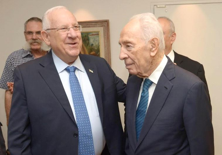 Reuven Rivlin and Shimon Peres. Credit: Mark Neiman/GPO