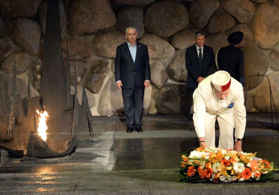 ndian Prime Minister Narendra Modi laid a wreath in the Hall of Remembrance at Yad Vashem, July 4, 2017